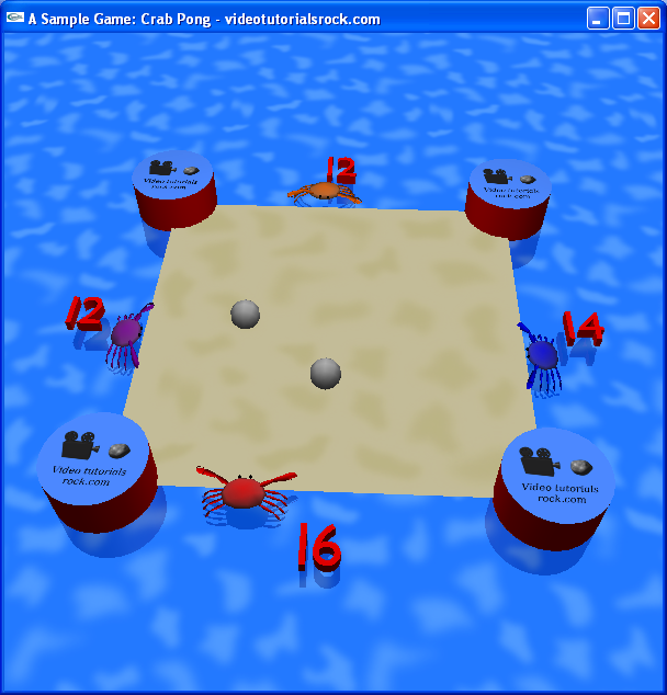 OpenGL Video Tutorial - A Sample Game: Crab Pong